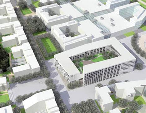 Espoon Suurpelto, Keskusrakennuksen kortteli, 20.000 k-m²